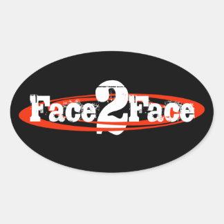 F2F Oval Sticker