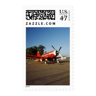 F2G-1D Super Corsair airplane at an air show in Postage