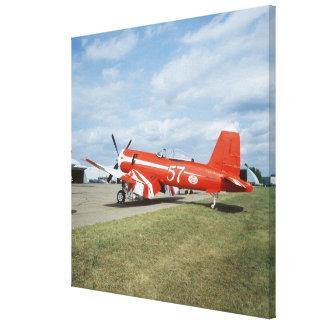 F2G-1D Super Corsair airplane at the air show in Canvas Print