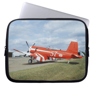 F2G-1D Super Corsair airplane at the air show in Laptop Sleeve
