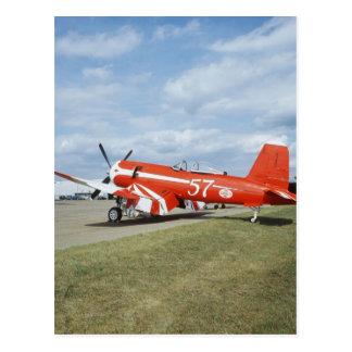 F2G-1D Super Corsair airplane at the air show in Postcard