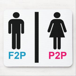 """F2P P2P """"libre de jugar"""" """"paga para jugar """" Alfombrilla De Raton"""