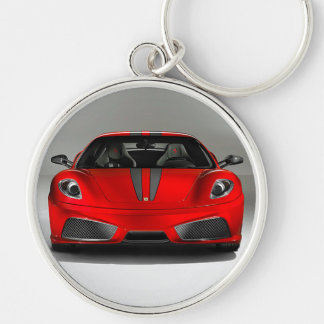 F430 Keyring Silver-Colored Round Keychain