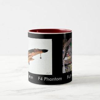 F4 Cockpit, F4 Phantom, F4 Phantom     F4 Phant... Two-Tone Coffee Mug
