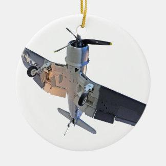 F4 Corsair Fighter Ceramic Ornament