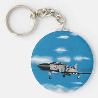 F4 Phantom  Navy Jet Fighter Basic Round Button Keychain