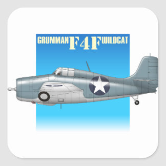 f4f wildcat side view square sticker