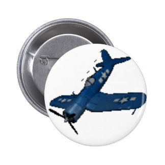 F4U4 CORSAIR IN A DIVE PINBACK BUTTON