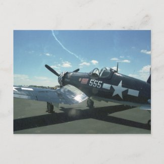 F4U-1 Corsair Postcard postcard