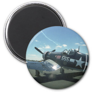 F4U Corsair 01 2 Inch Round Magnet