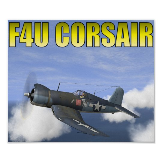 "F4U CORSAIR ""Lucybelle"" poster"