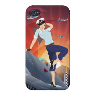 F4U-Corsair Pin-Up iPhone 4 Case