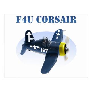 F4U Corsair Plane #167 Postcards