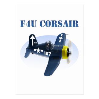 F4U Corsair Plane #167 Postcard