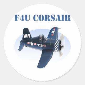 F4U Corsair plane #530 Classic Round Sticker