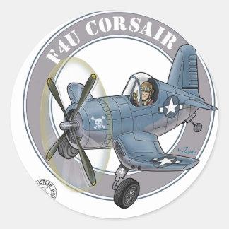 f4u corsair.png classic round sticker