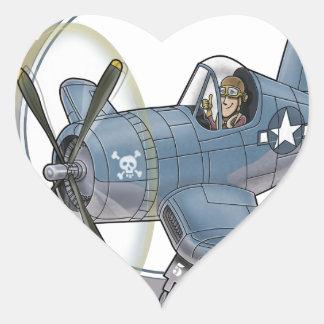 f4u corsair.png heart sticker