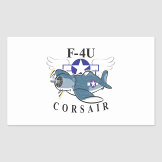 f4u corsair rectangular sticker