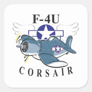 f4u corsair square sticker