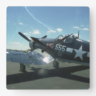 F4U Corsair Square Wall Clock
