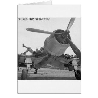F4U CORSIAR ON BOUGAINVILLE GREETING CARDS