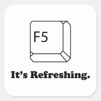 F5 It's Refreshing Square Sticker