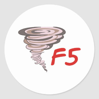 F5 TORNADO CLASSIC ROUND STICKER