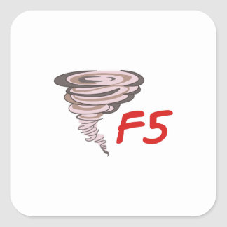 F5 TORNADO SQUARE STICKER