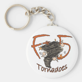 F5 Tornadoes Basic Round Button Keychain
