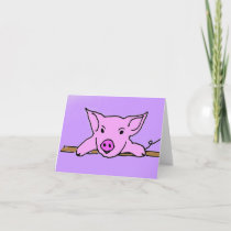 F6- Cute pig note cards