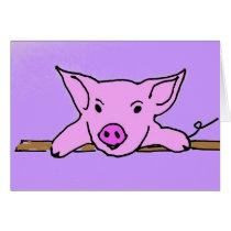 F6- Cute pig note cards