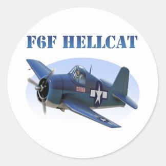 F6F Grumman Hellcat Classic Round Sticker