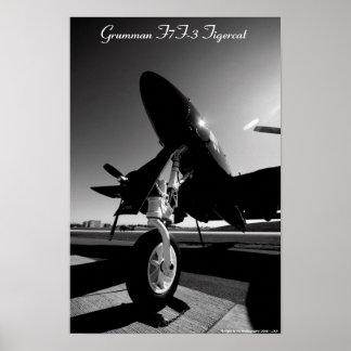 F7F-3 Tigercat - nariz Poster