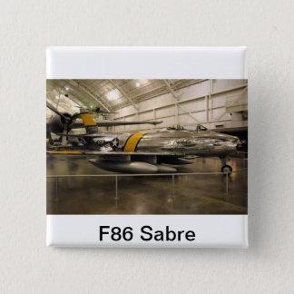F86 Sabre Jet Fighter Plane Button