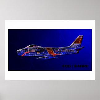 F86 / Sabre Jet fighter Poster