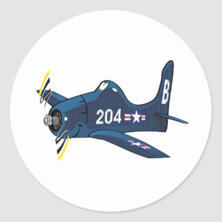 f8f bearcat classic round sticker