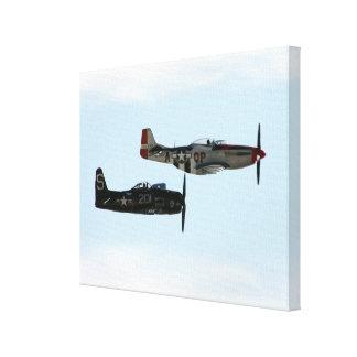 F8F Bearcat  & P-51D Mustang Canvas Print
