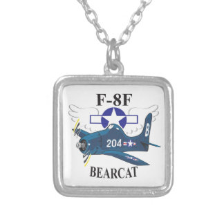 f8f bearcat silver plated necklace