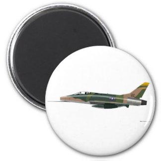 F-100 norteamericano SABRE estupendo Imán Redondo 5 Cm