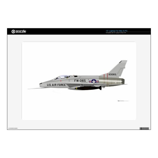 F-100 norteamericano SABRE estupendo Calcomanías Para Portátiles