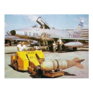 F-100 SABRE estupendo Postal