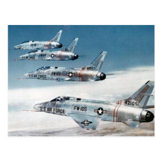 F-100 SABRE estupendos Tarjetas Postales