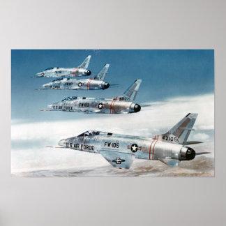 F-100 Super Sabres Poster