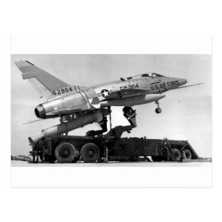 F-100 with Giant Jato! Postcard