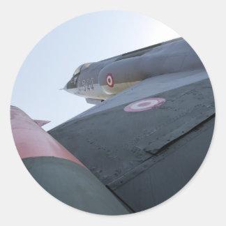 F-104 Fighter Jet Classic Round Sticker