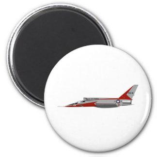 F-107A norteamericano SABRE estupendo Imán Redondo 5 Cm