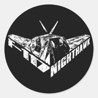F-117 Nighthawk Classic Round Sticker
