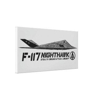 F-117 Nighthawk Stretched Canvas Print