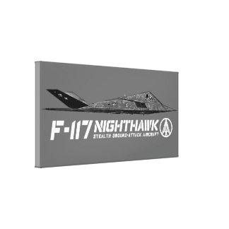 F-117 Nighthawk Wrapped Canvas Canvas Print