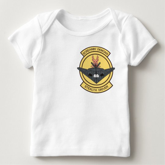 F-117 screaming demons stealth driver baby T-Shirt